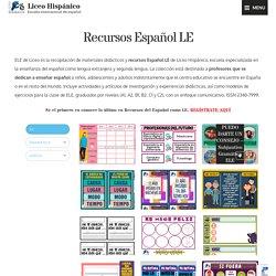 Recursos Español LE para profesores