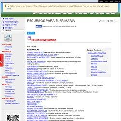 Recursos gratuitos - RECURSOS PARA E. PRIMARIA