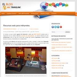 Recursos web para intérpretes.
