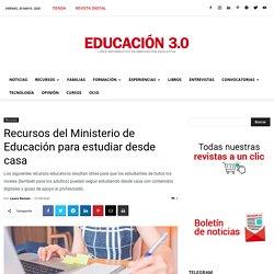 Recursos del Ministerio de Educación para estudiar desde casa