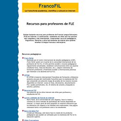 Recursos para profesores de francés lengua extranjera