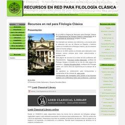 Recursos en red para Filología Clásica