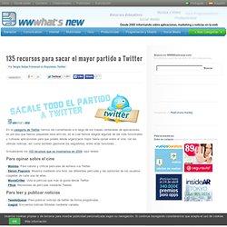 135 recursos para sacar el mayor partido a Twitter