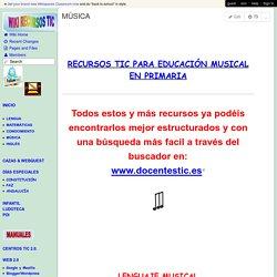 Recursos TIC - MÚSICA