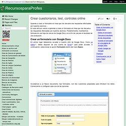 RecursosparaProfes - Crear cuestionarios, test, controles online