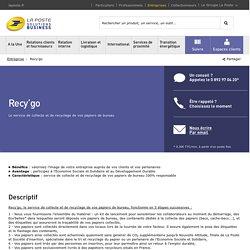 Recy'go – Entreprise– La Poste