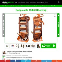 Recyclable Retail Shelving : Eco Friendly Retail