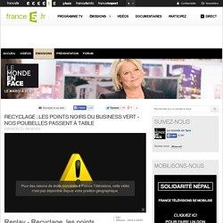 Recyclage : les points noirs du business vert - Nos poubelles passent à table - 28/04/2015 - News et vidéos en replay - Le monde en face