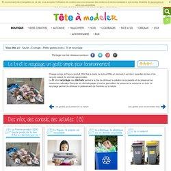 Le recyclage, un geste simple pour l'environnement - Ecologie et environnement expliqué aux enfants et leurs parents