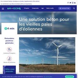Recyclage des éoliennes : une solution béton pour les vieilles pales