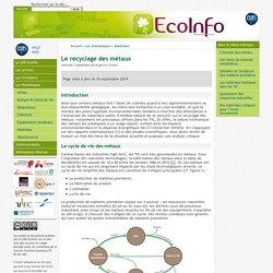 Le recyclage des métaux - [GDS EcoInfo]