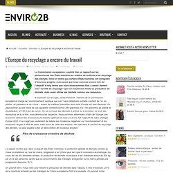 L'Europe du recyclage a encore du travail