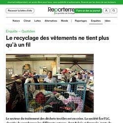 Le recyclage des vêtements ne tient plus qu'à un fil