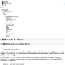10 Ideas on How to Recycle Doors - Oreeko Eco Green Fair Trade Business Directory