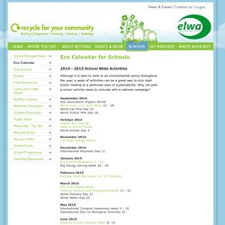Recycle For Your Community - Eco Calendar