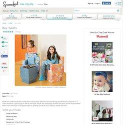 Recycle Craft: Box Seats