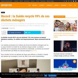 Record : la Suède recycle 99% de ses déchets ménagers