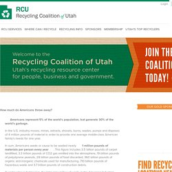 Recycle ▶ Get the Facts