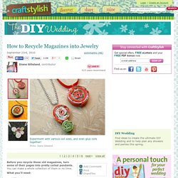 How to Recycle Magazines into Jewelry