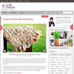 Recycle Tutorial: Woven Rag Rug
