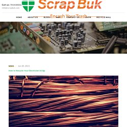 How to Recycle Your Electrician Scrap