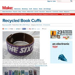 Recycled Book Cuffs