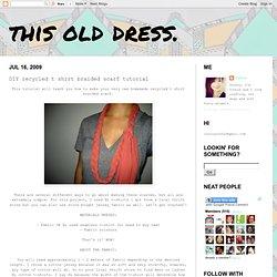 DIY recycled t shirt braided scarf tutorial