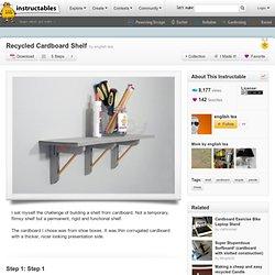 Recycled Cardboard Shelf