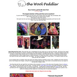 Wool Peddler: Recycled Silk & Banana Silk Yarns, Handpainted & Handspun Yarns