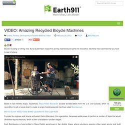 Earth 911 - Recycled Bicycle Machines
