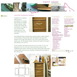 DIY Recycled Masonite Drawers (No-Hole Pegboard)