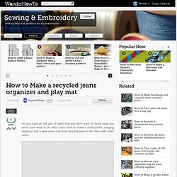 Recycled jeans organizer