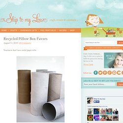 Recycled Pillow Box Favors | Skip To My Lou - StumbleUpon