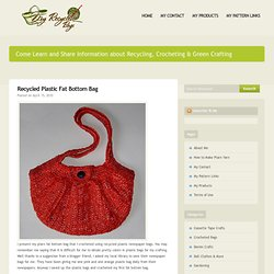 Recycled Plastic Fat Bottom Bag  | My Recycled Bags.com