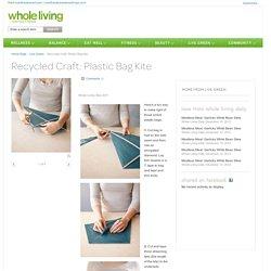 Recycled Craft: Plastic Bag Kite