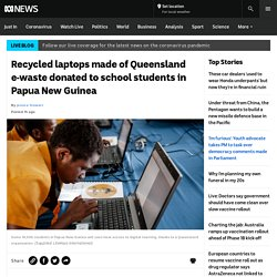 Recycled laptops made of Queensland e-waste donated to school students in Papua New Guinea