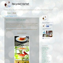 Recycled Market | Reduce, Reuse, Reinspire, Recycled. The first online marketplace to buy, sell and find all things recycled