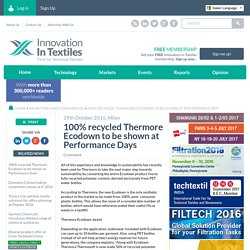 100% recycled Thermore Ecodown to be shown at Performance Days