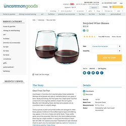 RECYCLED WINE GLASSES | Stemless Wine Glasses