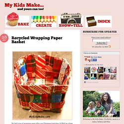 Recycled Wrapping Paper Basket