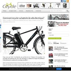 Comment recycler sa batterie de vélo électrique?