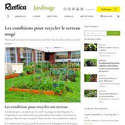 Comment recycler le terreau usagé : conditions et conseils