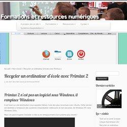 Recycler un ordinateur d'école avec Primtux 2
