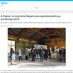 A Figeac, la recyclerie Regain sera opérationnelle au printemps 2018