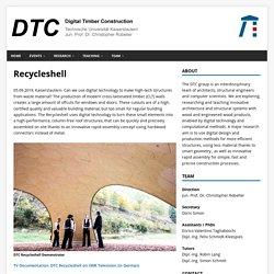 Recycleshell – Digital Timber Construction DTC