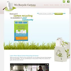 Recycling Milk and Juice Cartons in your Community and School | Carton Council