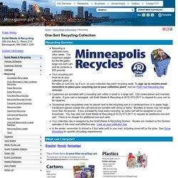 Recycling - City of Minneapolis