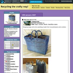 craftyrecycling: Bags from rags