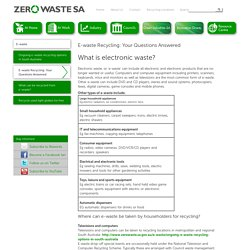 E-waste Recycling: Your Questions Answered