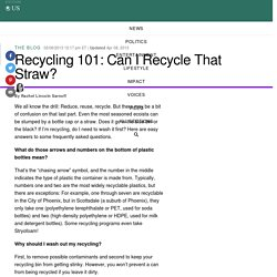 Recycling 101: Can I Recycle That Straw?